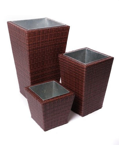 Red Star Traders PE Rattan 3-Piece Nesting Planter Set picture