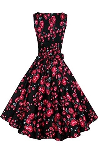 ACEVOG-Vintage-1950s-Floral-Spring-Garden-Party-Picnic-Dress-Party-Cocktail-Dress
