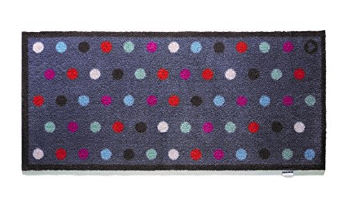 Hug Rug T209 Eco-Friendly Absorbent Dirt Trapping Indoor Washable Runner, 25.5-Inch x 59-Inch, Blue Spot