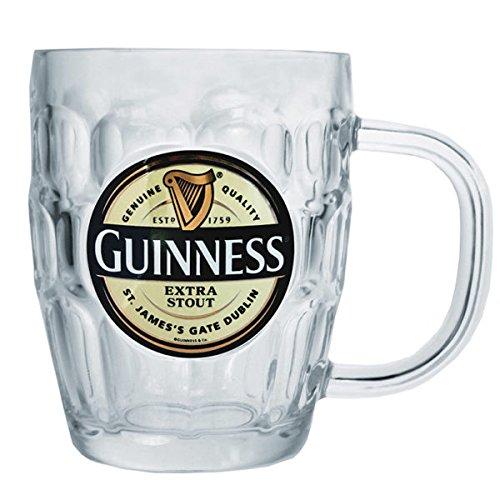 Guinness Label Glass Beer Mug - 16 oz (Beer Mug Glass compare prices)