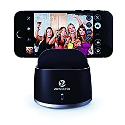Zoweetek® Fiedora Smart Remote Controller Auto 360 Degree Bluetooth 4.0 Selfie Robot Machine to Self-Timer Picture Video Recoder for IOS Android Phone Black