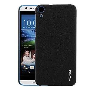 HTC Desire 820q Case : HOKO Sandstone Series Anti scratch Hard Case Back Cover for HTC Desire 820q (Denim Black)