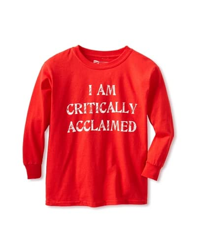 Little Dilascia Kid's Critically Acclaimed Long Sleeve Tee  [Red]