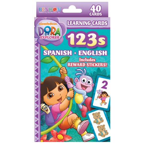 Dora 123 Spanish/English Learning Flash Cards Party Supplies - 1