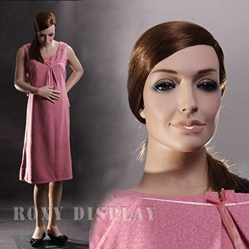 (Mz-Yf1+1 Wig) Realistic Pregnant Female Mannequin+1 Free Wig, Maternity