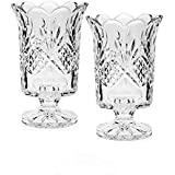 Godinger Silver Art Dublin Collection Crystal Hurricane Votive Candle Holders - Set OF 2 By Godinger