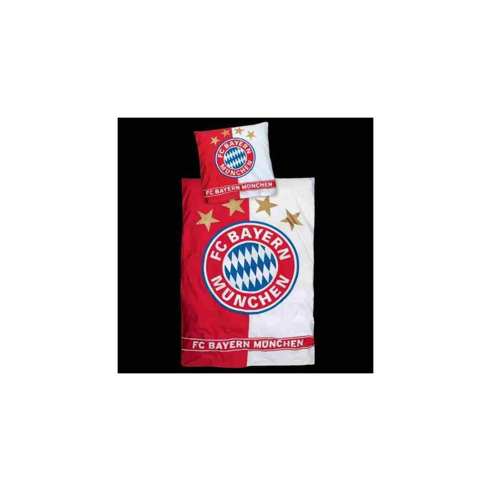 Biber Fc Bayern München Bettwäsche Rotweiß 135x200cm Neu