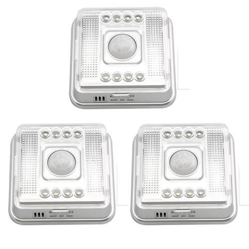3 lámparas LED con sistema de detección infrarrojo