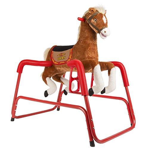 Rockin` Rider Lucky Talking Plush Spring Horse