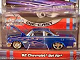 Maisto Pro Rodz Blue 62 Chevrolet Bel Air with Flames 1:64 Scale Die Cast Car