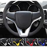 9 Moon ABS Steering Wheel Cover Trim for Chevrolet Cruze Chevy 2009-2015 Sedan Hatchback
