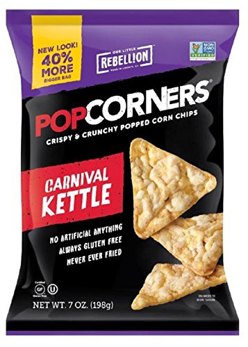 POPCORNERS Carnival Kettle, Popcorn Chips (7oz/12 Pack) (Kettle Popcorners compare prices)