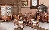 LouisXV Barocco Sala da Pranzo in Stile Antico replikat vetrina Credenza Tavolo Sedie moes1481