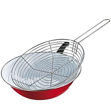 Po le friture en en acier maill d 26 cm cm for Fond blanc cuisine