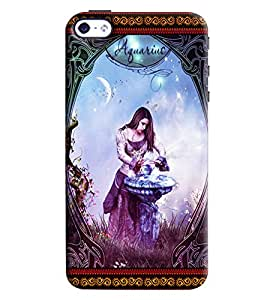 Omnam Sun Sign Aqurious Printed Back Cover Case For Apple iPhone 4/4s