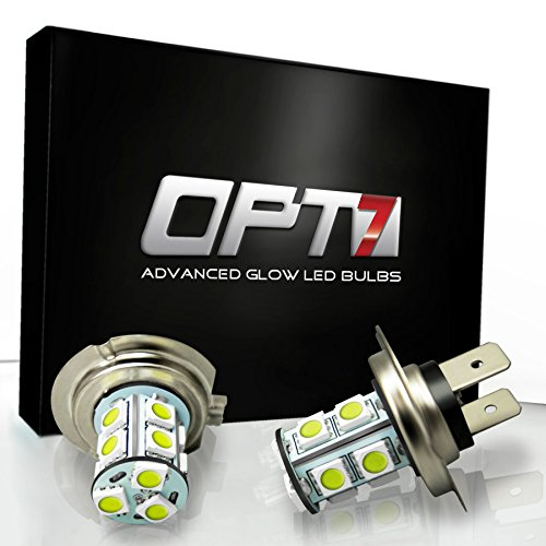 Opt7® H7 Advanced Glow 13-Smd Led Fog Light Bulbs - 10000K Deep Blue - Plug-N-Play (Pack Of 2)