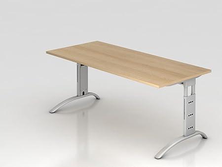 Supporto scrivania C 180x 80cm, rovere