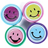 4Pcs Ink Stampers Art Craft Stamps w/ Smiley Face