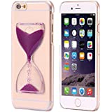IPhone 6/6s - Unique Soft Time Sand Glass - Quick Sand Hourglass Design (Crystal Bling Glitter Series) - Transparent Back Cover For IPhone 6 & Back Cover For IPhone 6s - Pink Colour