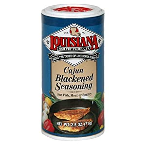 Louisiana fish fry products cajun blackened seasoning 2 5 for Blackened fish seasoning