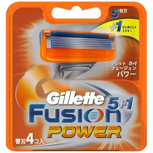 ジレット フュージョン5+1パワー 替刃 4個