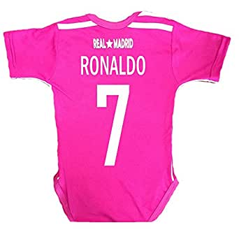 Amazon.com: Real Madrid Ronaldo #7 Baby Suit 0-9 Months (Away-Pink