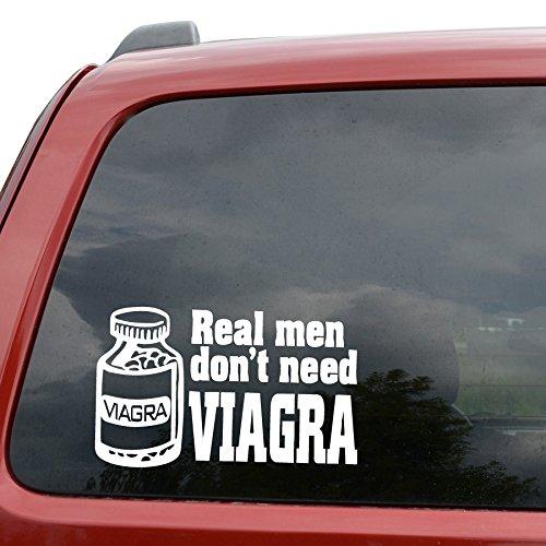 real-men-dont-need-viagra-funny-car-window-laptop-ipad-3-file-di-vinile-decalcomania