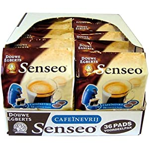 Choose Senseo Decaffeinated, New Design, Pack of 10, 10 x 36 Coffee Pods - Douwe Egberts