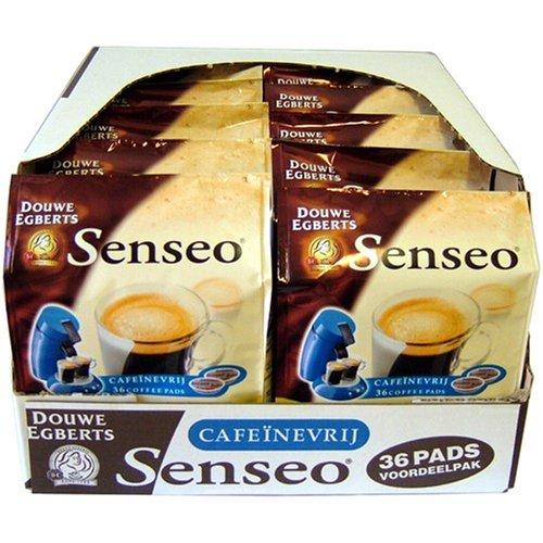 Choose Senseo Decaffeinated, New Design, Pack of 10, 10 x 36 Coffee Pods - Douwe Egberts