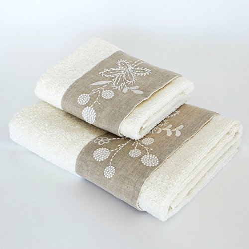 bottega-tessile-lot-de-serviettes-serviette-invite-1-1-broderie-en-tissu-eponge-moelleux-100-coton-b