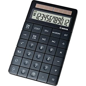 Canon X Mark I Premium Black Desktop Calculator (3982B005)