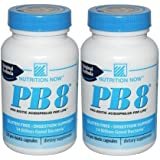 Nutrition Now PB 8 Pro-Biotic Acidophilus For Life -- 120 Capsules(Pack of 2)