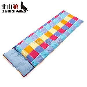 Colorful Grid Pattern Sleeping Bag saco de dormir : Sports & Outdoors