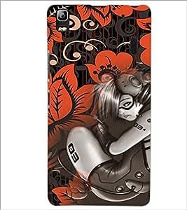 PrintDhaba Music Girl D-4115 Back Case Cover for LENOVO K3 NOTE (Multi-Coloured)