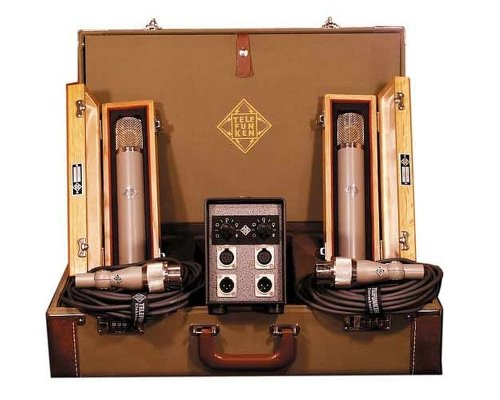 Telefunken C12 Stereo Set | Tube Condenser Microphone Stereo Set For All Types Of Instrument And Vocals
