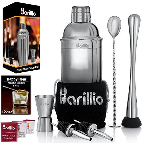 elite-cocktail-shaker-set-bartender-kit-by-barillio-24-oz-stainless-steel-martini-mixer-muddler-mixi