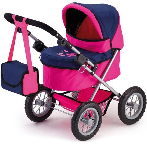 Puppenwagen Trendy in Blau-Pink-Design, 68 cm