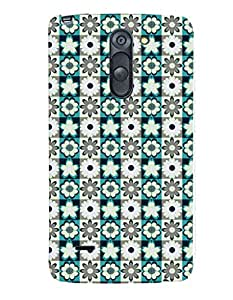 Fuson Premium Blue Flowers Printed Hard Plastic Back Case Cover for LG G3 Stylus D690