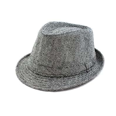 Faddism HAT58GYARW05 Stylish Fedora Hat in Gray Design for Men and Women