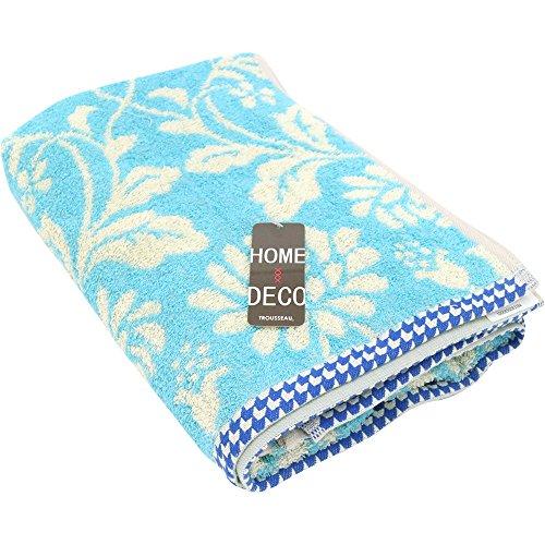 綿100% コットンタオル アルフォンス バスタオル 60×120cm ブルー