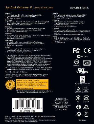SanDisk 闪迪 Extreme II 至尊极速2代 240GB SATA III 固态硬盘美国亚马逊