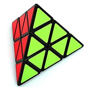 Set of 3 Speed Cube Megaminx, Pyraminx, Silver Mirror Magic Puzzle