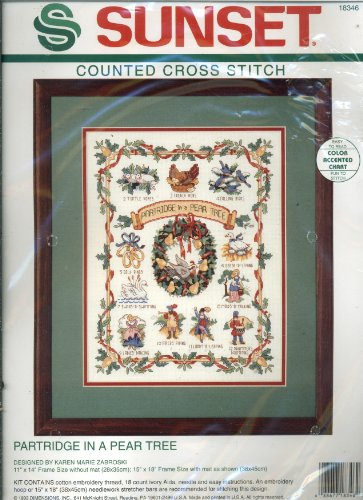 Sunset Counted Cross Stitch Kit - Partridge in a P…