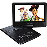 DBPOWER� 9.5 zoll 958 LCD Bildschirm Tragbarer DVD-Player MP4 MP3 WMA AVI MPG VOB JPEG USB Spiele FM-Radio SD Card Game In Car Swivel Flip Schwarz