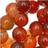 Natural Carnelian Gemstone 6mm Round Beads / 15.5 Inch Strand