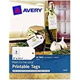 2 X Avery Printable Tags with Strings for Inkjet Printers, 2 x 3.5-Inches, Pack of 96 Tags (22802)