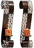 Deco 79 Metal Candle Sconce, 21 by 4-Inch, (Set of 2)