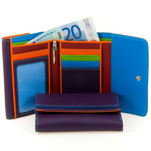 Mywalit 13cm Double Flap Purse Wallet Quality Leather