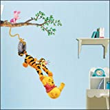 Winnie the Pooh & Tigger Peel & Stick Kids Room Wall Art Sticker Decals