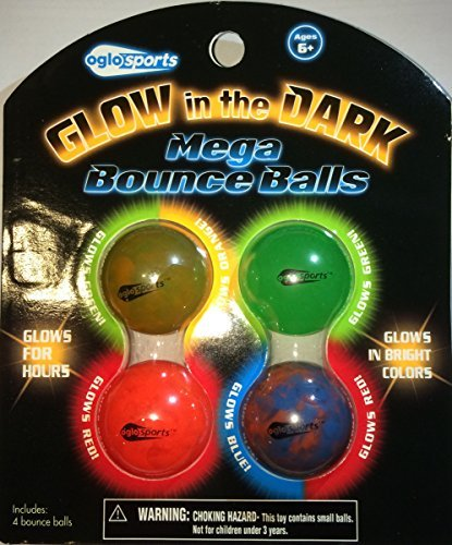 Glow in the Dark Mega Bounce Balls